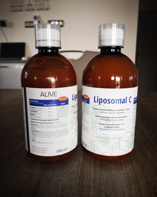Orange flavored liquid liposomal vitamin C