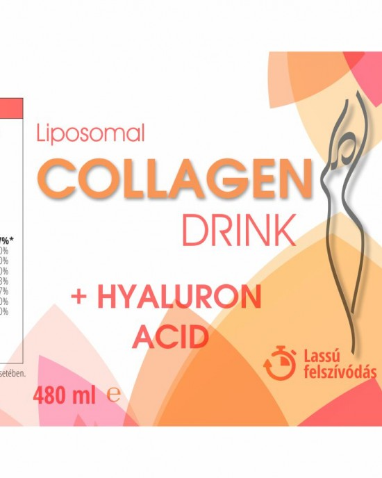 Collagen drink with added hyaluronic acid, amino acids and vitamins