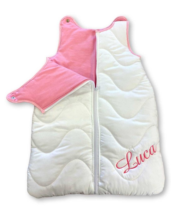 Baby sleeping bag (even embroidered with a unique name)