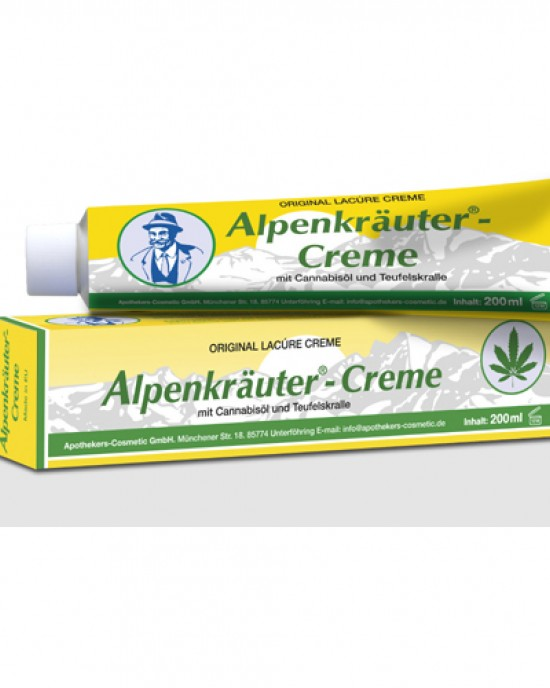 Alpine herb cream with cannabis oil