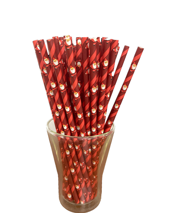 Paper straw, colorful, 8 mm (50 pcs.)