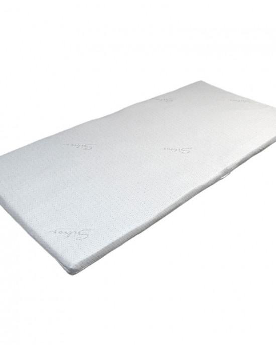 Silver mattress cover